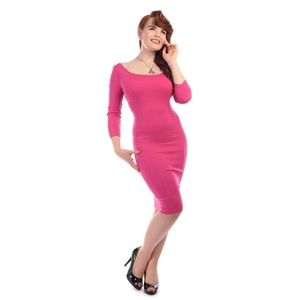 nwot collectif pink midi dress size small 6